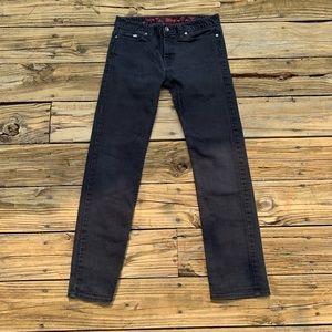 Vans | Mens Black Slim Straight Jeans Size 28x30